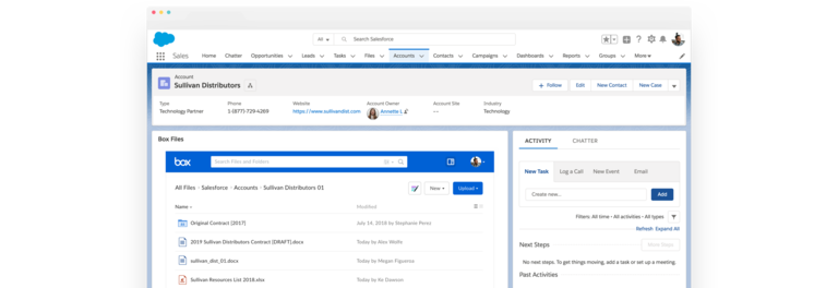 Box Integration with Salesforce CRM