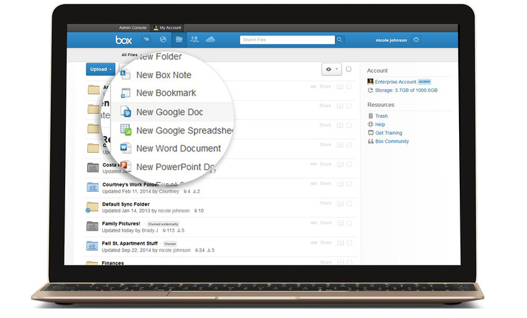 Box integrates with Google Apps