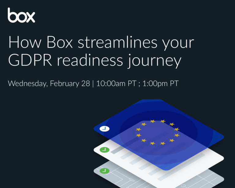 How Box streamlines your GDPR readiness journey